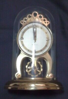 Shatz & Sonne 8 Day Glass Domed Mantle Clock Germany Aug 1959 Two Jewels Spares