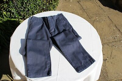 Used Boys John Lewis Navy Blue Chino-Style Trousers, Size 12 Years