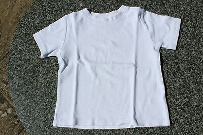 Used 'The Little White Company' white T-Shirt/PJ top, Size 3-4yrs