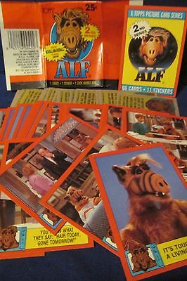 1988 ALF Series 2 BASE CARD SET (66) w/ wrapper BY Topps
