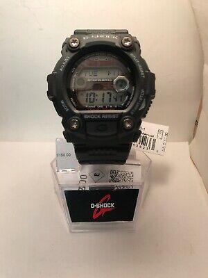 Casio G-Shock Men's Tough Solar Multi-Band 6 Black Resin 50Mm Watch Gw7900-1-H75