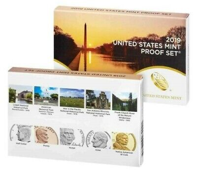 2019-S  Proof Set Free Ship+ Free Silver Kennedy Half And 4 Rolls 2019-P Cent