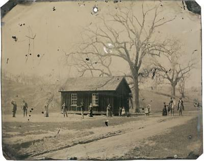Billy The Kid Famous Historical Farmhouse Croquette  scene tintype small C710RP
