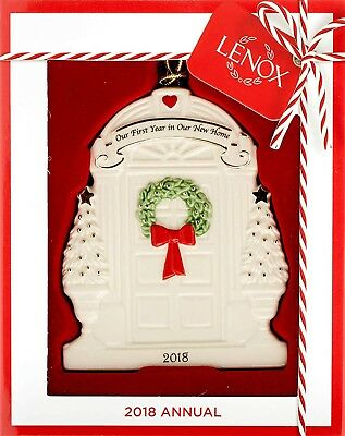 """NIB Lenox 2018 """"Our First Year in Our New Home"""" Christmas Holiday Ornament"""