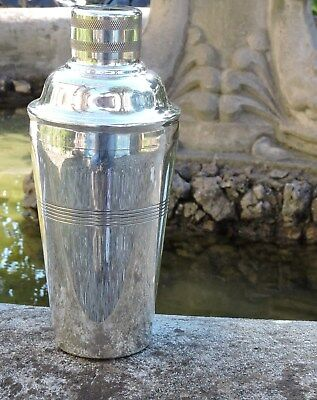 Collectable Art Deco Silver Plated  Cocktail Shaker by Loftus of London c1930