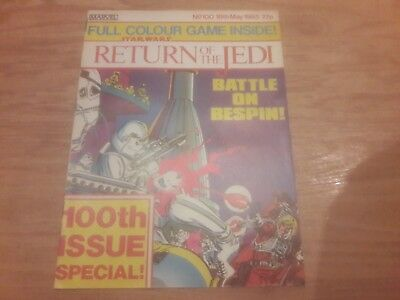 Star Wars Return Of The Jedi Comic. No.100. 18Th May 1985. Marvel Comics Uk.