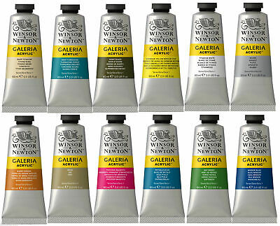 60ml Winsor Newton Galeria Acrylic Art Paints Tubes Colours Painting Supplies