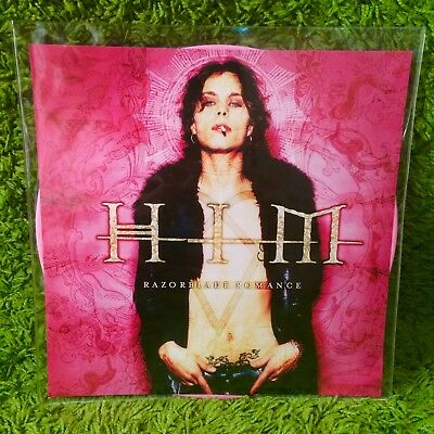 HIM RAZORBLADE ROMANCE •pink• RARE HOT TOPIC LTD Jimmy Franks +card SEALED