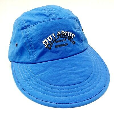34222c771bc Billabong Soft Wide Bill Strapback Hat Vintage USA Surf Beach Skate 5 Panel  1990