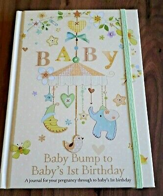 MUST SEE Baby bump to babys first 1st birthday record book.pregnancy journal