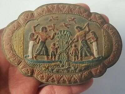 Exeptional Extremely Rare Ancient Egyptian Stone Plaque. Fantastic.245 Gr.115 Mm