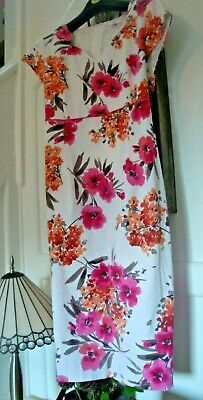 287cfee287 BETTY BARCLAY WHITE Cotton dress size 16 immaculate condition ...
