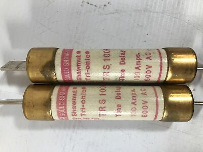 Gould Shawmut Tri-Onic Time Delay Fuse TRS100R 100 Amps (Lot of 2)