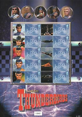 THUNDERBIRDS A4 Smiler Stamp Sheet Limited Edition BC021