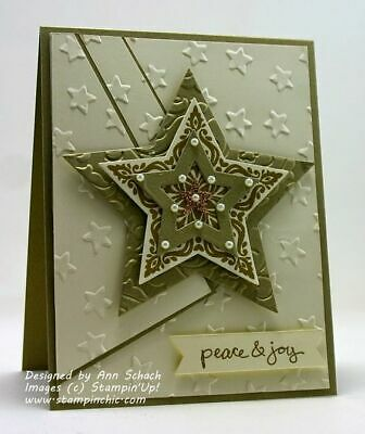 Stampin up Lucky Stars Embossing folder