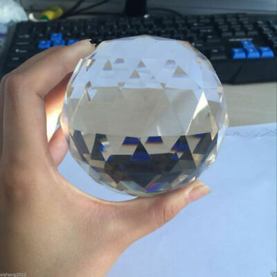 Clear Cut Crystal Sphere 40-100mm Faceted Gazing Ball Prisms Suncatcher Decor