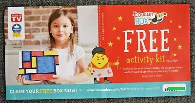 Toucan BOX Activity Kit for Children Coupon / Voucher from Monsoon