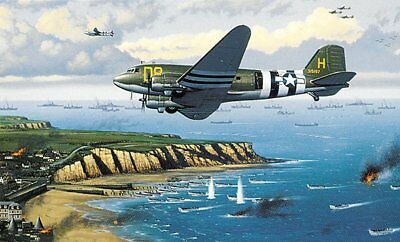"""""""D-Day Invaders"""" 11"""" x 16.5"""" Stan Stokes Aviation Art Print - C-47 Skytrain DDAY"""