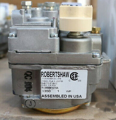 ROBERT SHAW 7000BGOR / 386-541-078 1/2 inch GAS VALVE  Fryers and Catering Eqip