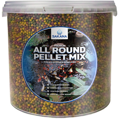 Sakana All Round Mix Pond Pellets Complete Premium Balanced Cold Water Fish Food
