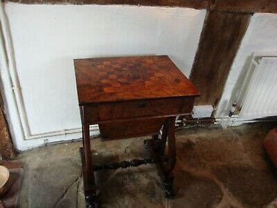 A William IV Rectangular Inlaid Mahogany Games / Work Table With Inlaid Top