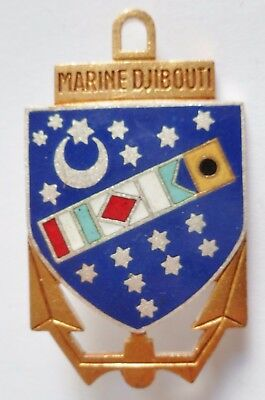 MARINE DJIBOUTI -  insigne de Marine - émail ancien original FRENCH NAVY BADGE