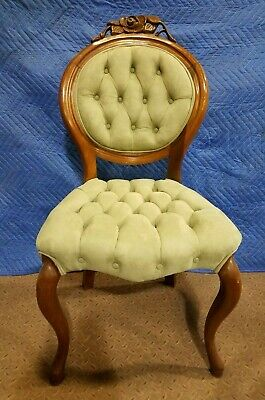 Antique Louis XVI Upholstered Accent Chair