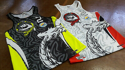 FOOTEX Canotta Beach Volley CAMOUFLAGE Made in Italy Colore Nero//Bianco-Grigio