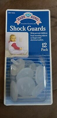 Outlet Covers Baby King Shock Guards Plastic 12 Pack BK1403 Electrical