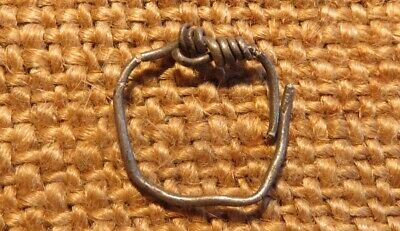 Old Silver Ring Amulet Scythian-Sarmatia 7-3 th Century B.C. ( 0.6 gr )