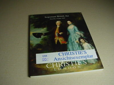 CHRISTIE`S Auktionskatalog Important British Art 10. Juni/ June 1999.