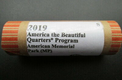 2019-S American Memorial Park (MP) ATB Unc. Quarter: 40 Coin Roll. ID PL