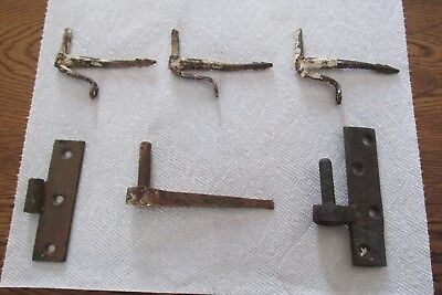 Wrought Iron Pintal Hinges Assortment, Early to mid 19th Century