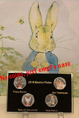 2018 Beatrix Potter 50p coin Display Case NO COIN With Double Side Prints+stand