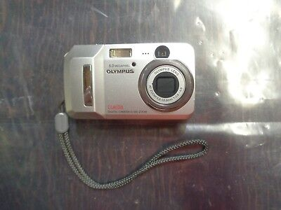Olympus Camedia D-595 Zoom 5MP Digital Camera - Silver