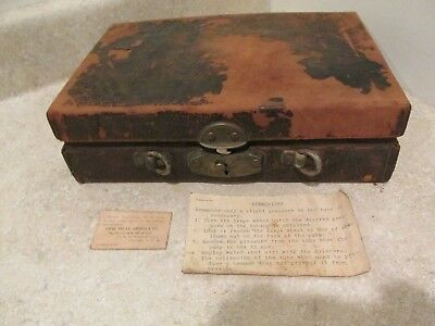S38 Antique Doctors Medical Urologist Instrument Kit Pump Tubing Gauges Case