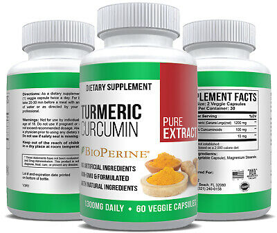 Turmeric Curcumin Extract Pure Max Strength Health Supplement Antioxidant