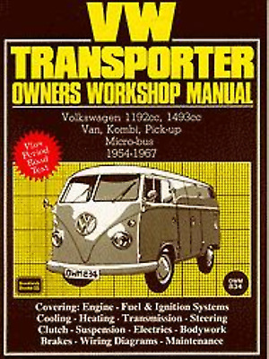 workshop manual vw transporter type 2 van kombi micro-bus 1954-1967 splittie