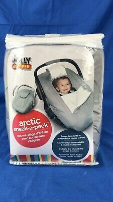 Jolly Jumper Sneak a Peek Water Repellent Infant Car seat Cover Deluxe Gray