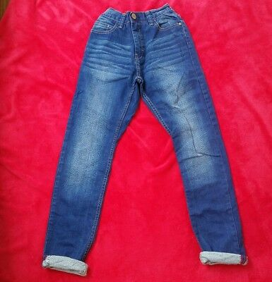 New Next Boys Blue Wash Jeans with feature pockets /adjustable waistband-12yrs