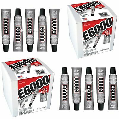E6000 Glue .18 fl oz Mini Tubes Industrial Strength Adhesive (10 PACK)