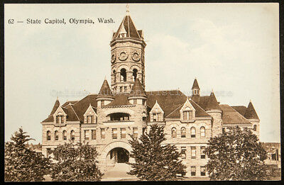 62 - State Capitol, Olympia, Wash, printed postcard, Pacific Coast Biscuit Co.,