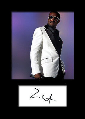 FREE DELIVERY KAYNE WEST #1 Signed Photo Print 10x8 Mounted Photo Print