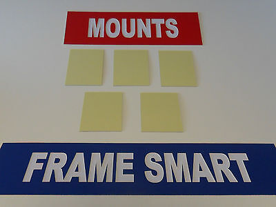 Frame Smart pack of 10 self adhesive mount board size A3