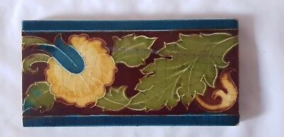 Minton Art Nouveau Antique Border Tile 6 X 3 Inches