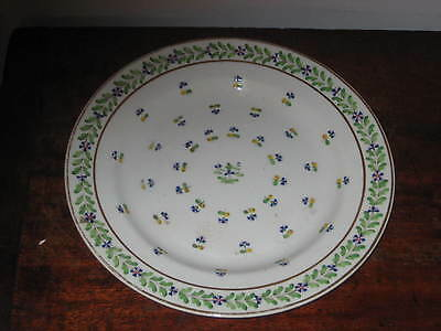 Early 19Th Century Crown Derby Large Plate Hand Painted Small Flowers