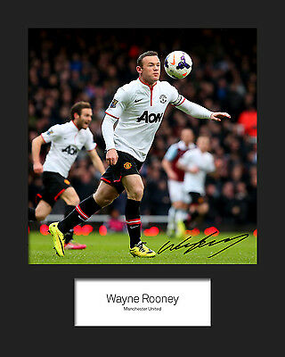 WAYNE ROONEY #2 10x8 SIGNED Mounted Photo Print - FREE DELIVERY