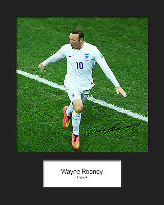 WAYNE ROONEY #4 10x8 SIGNED Mounted Photo Print - FREE DELIVERY