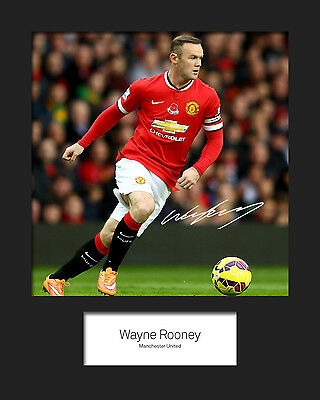 WAYNE ROONEY #3 10x8 SIGNED Mounted Photo Print - FREE DELIVERY