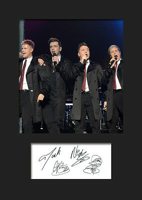 WESTLIFE #1 Signed Photo Print A5 Mounted Photo Print - FREE DELIVERY